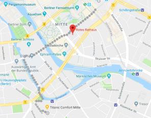 Alexandreplatz-Otel Yürüme Rotası